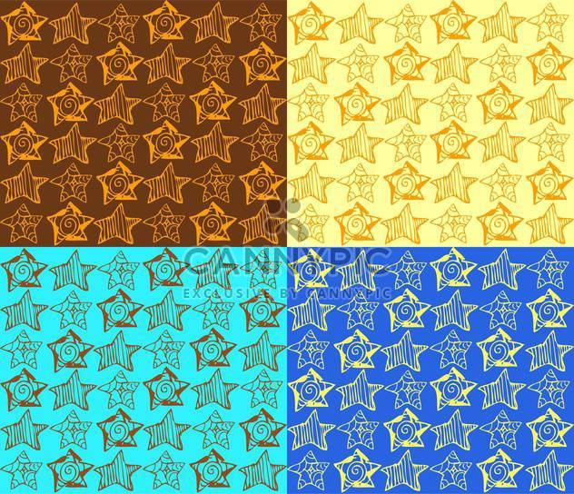 Vektor-Illustration von farbigen Hintergrund mit verschiedenen Arten von Sternen - Free vector #125788