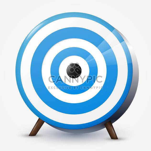 Vector illustration of round blue target on white background - Free vector #125828