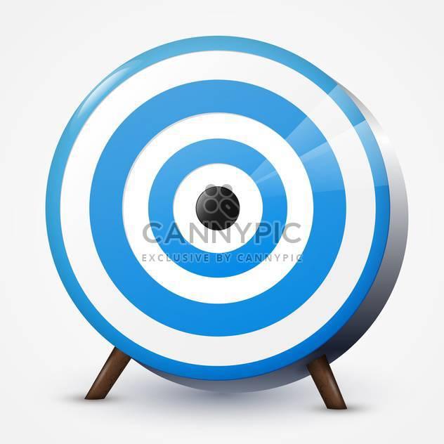 Vektor-Illustration der Runde blaue Zielscheibe auf weißem Hintergrund - Kostenloses vector #125828