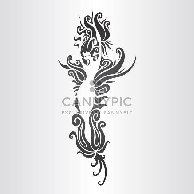 Vector illustration of floral woman silhouette on white background - Free vector #125978
