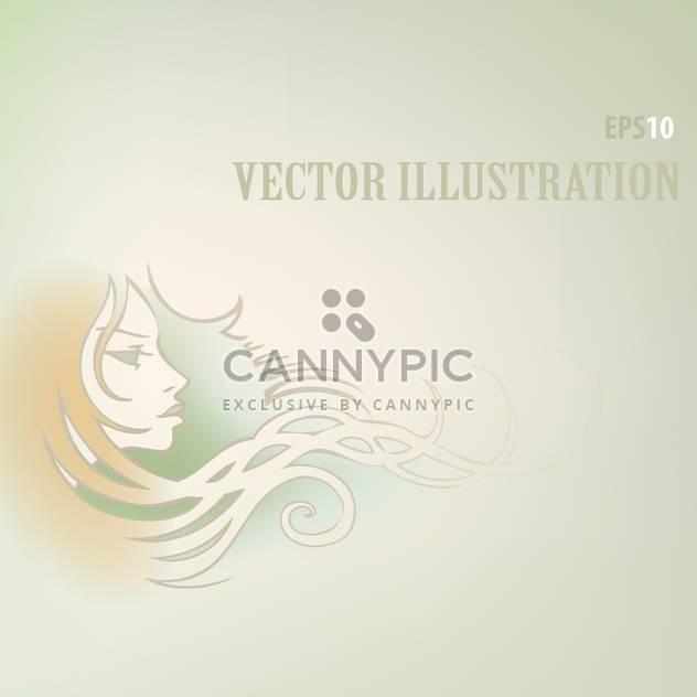 Vektor-Hintergrund mit Frau Gesicht und Text-Platz - Kostenloses vector #126028