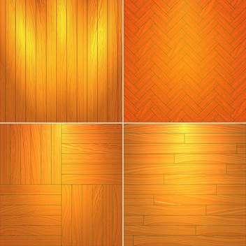 Vector illustration set of brown wooden textures - Free vector #126048