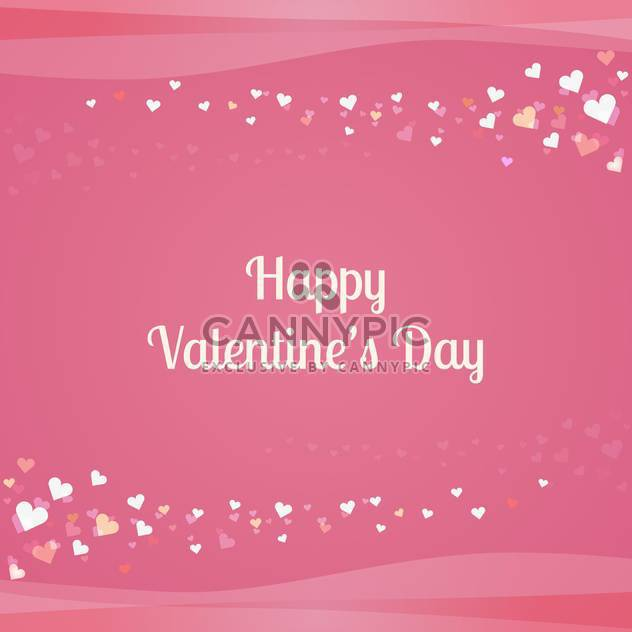 Vector pink background with hearts for Valentine's day - Free vector #126088