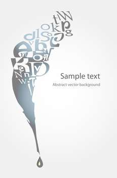 Vector illustration of feather and letters on white background with text place - бесплатный vector #126228