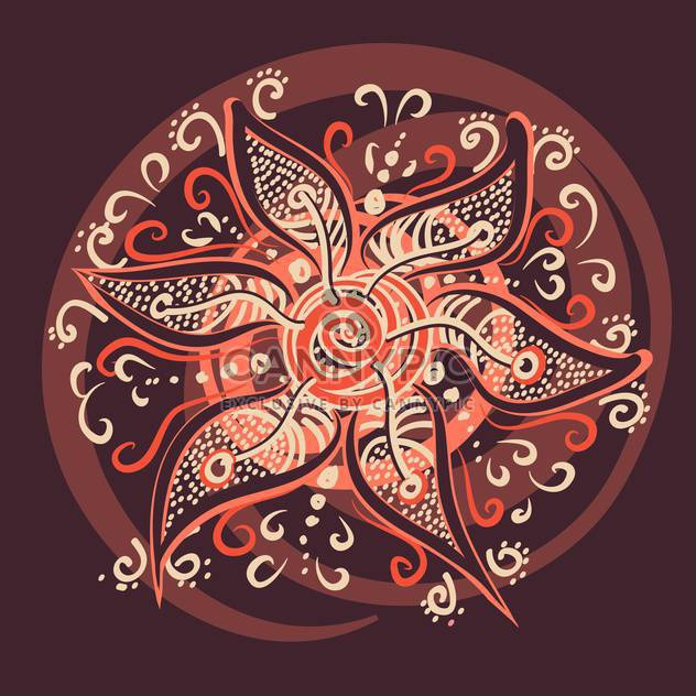 Vektor-Illustration von mit Schönheit Blume auf braunen Hintergrund - Kostenloses vector #126258