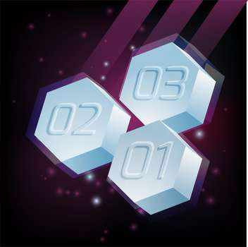 Vector abstract background hexagons with numbers on dark background - Free vector #126268