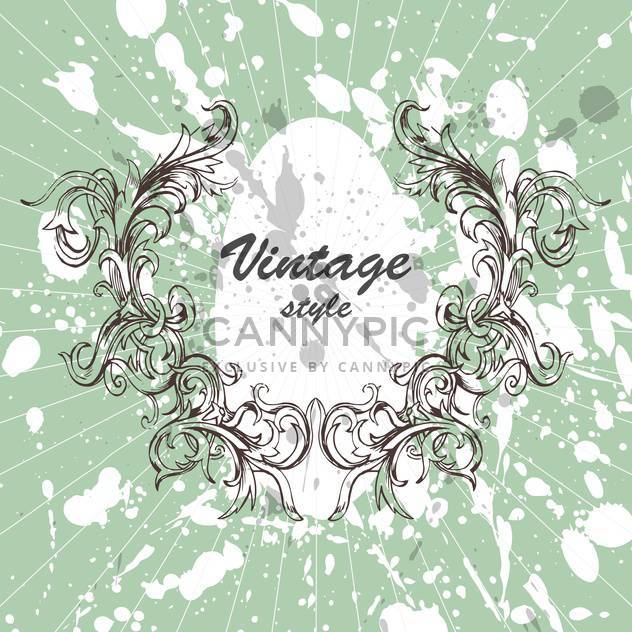 Vector vintage creative background with spray paint signs and flower ornate - Free vector #126288