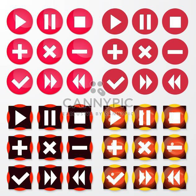 Vector illustration of colorful round web icons set on white background - Free vector #126298