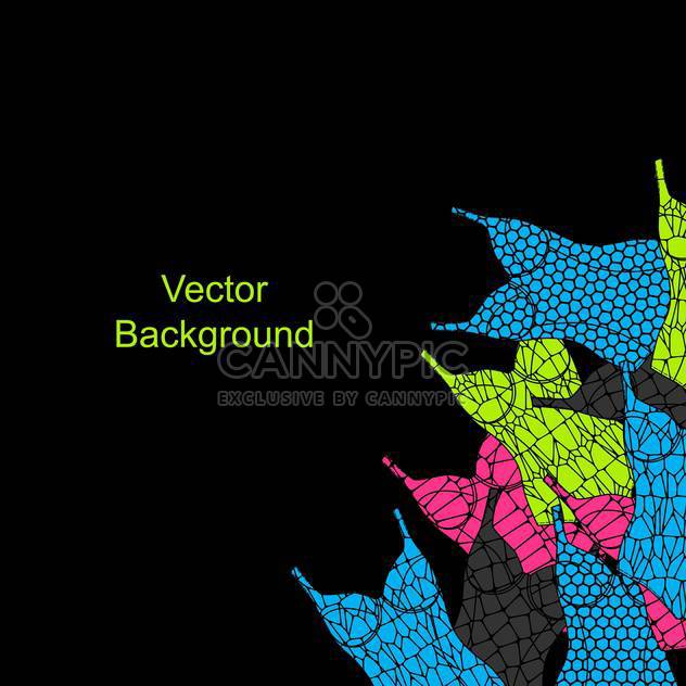 Vector black background with colorful female swimsuits - Free vector #126308