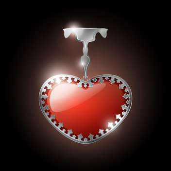 Vector illustration of heart shape jewel on dark background - vector #126378 gratis