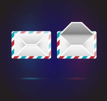 Vector mail icons on dark blue background - Free vector #126418