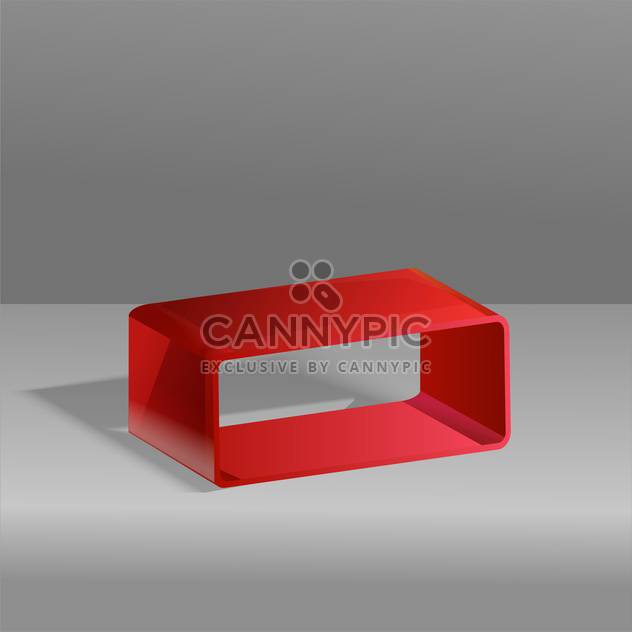Vector illustration of red cube on grey background - Free vector #126428