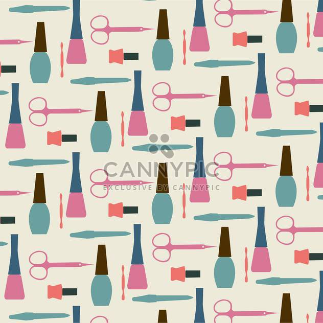Vector illustration of female colorful manicure collection background - Free vector #126438