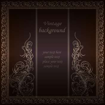 Vector vintage floral background with text place - бесплатный vector #126478