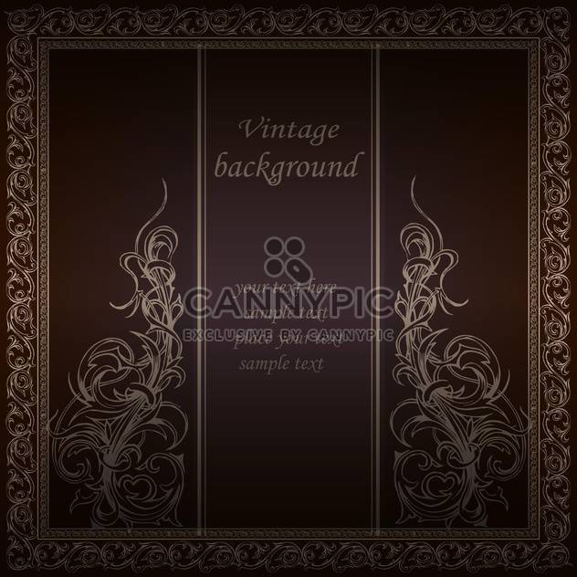 Vektor Vintage floral Background mit Text-Platz - Free vector #126478