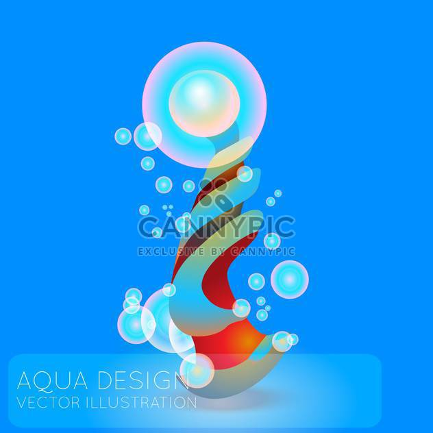 Colorful illustration of abstract blue background with bubbles - Free vector #126508