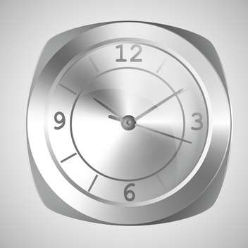 Vector illustration of wall clock on white background - vector gratuit #126538