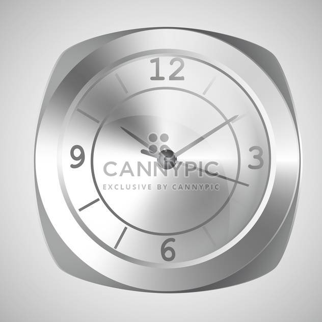 Vector illustration of wall clock on white background - Free vector #126538