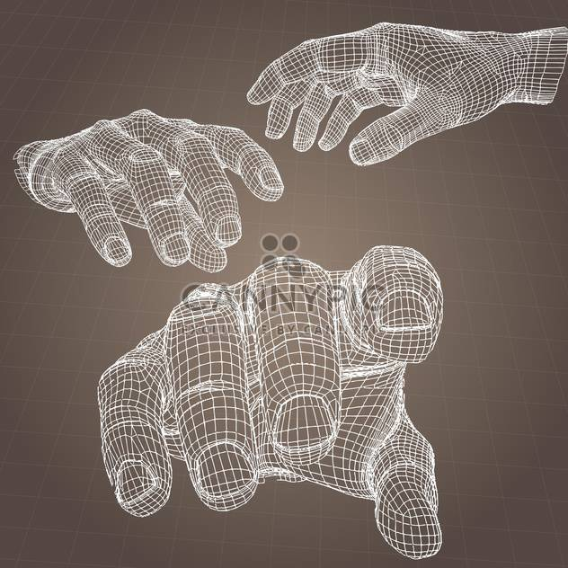 vector model of human hands on brown background - Free vector #126558
