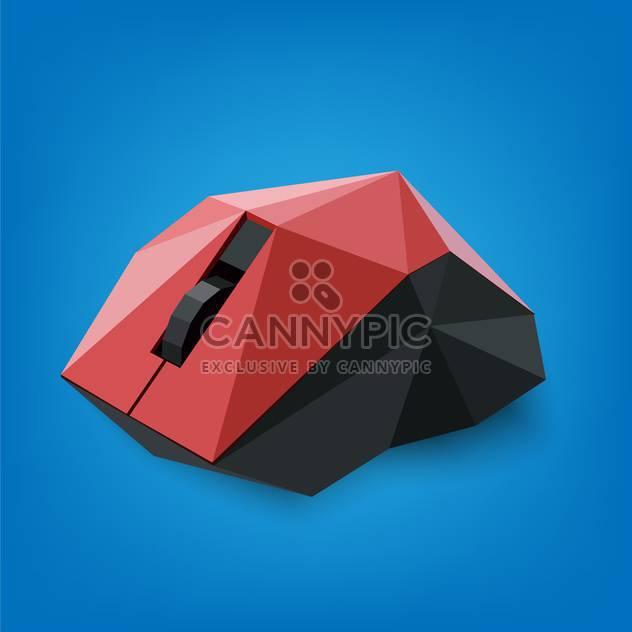 Vektor-Illustration, abstrakte geometrische Computermaus auf blauem Hintergrund - Free vector #126578
