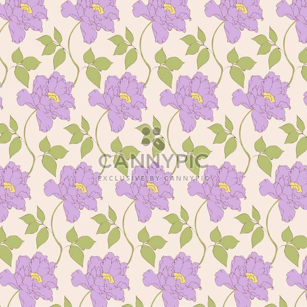 Vector vintage background with floral pattern - Free vector #126598