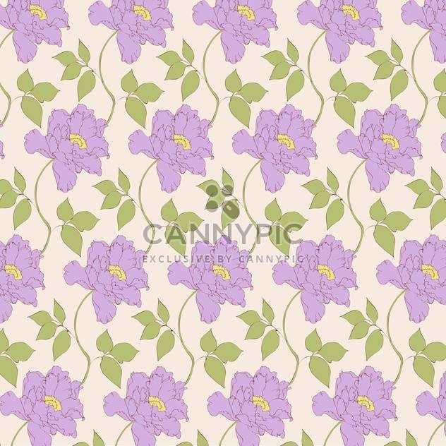 Vektor-Jahrgang-Hintergrund mit Blumenmuster - Free vector #126598