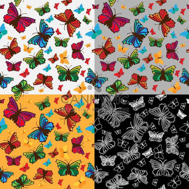 colorful illustration of beautiful butterflies background - Free vector #126628