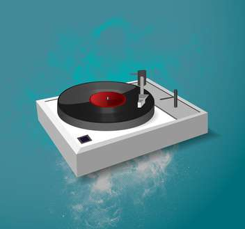 Vector illustration of music dj-mixer on blue background - Free vector #126678