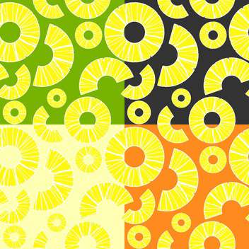 Vector background with colorful pineapples - Free vector #126698