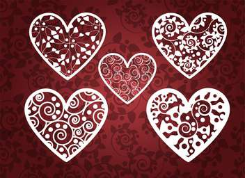 Vector holiday background with hearts for valentine card - vector gratuit #126718
