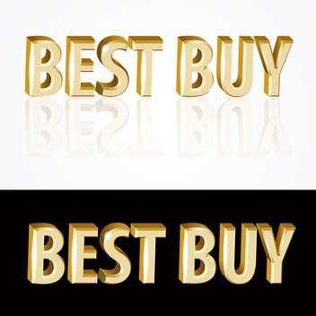 golden best buy signs on black and white backgrounds - vector gratuit(e) #126748