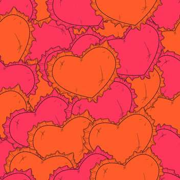 Valentine's day background with hearts - vector gratuit #126778