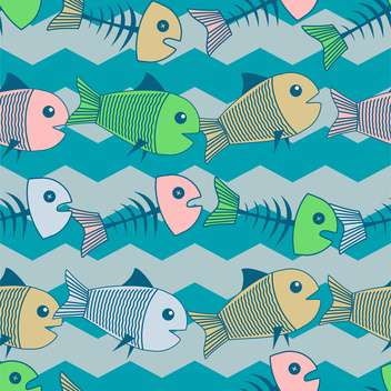 Vector colorful background with dead fish - Free vector #126788