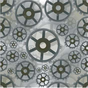 Abstract grey color mechanical background with gears - vector #126798 gratis