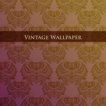 Vector colorful vintage wallpaper with floral pattern - vector gratuit #126828