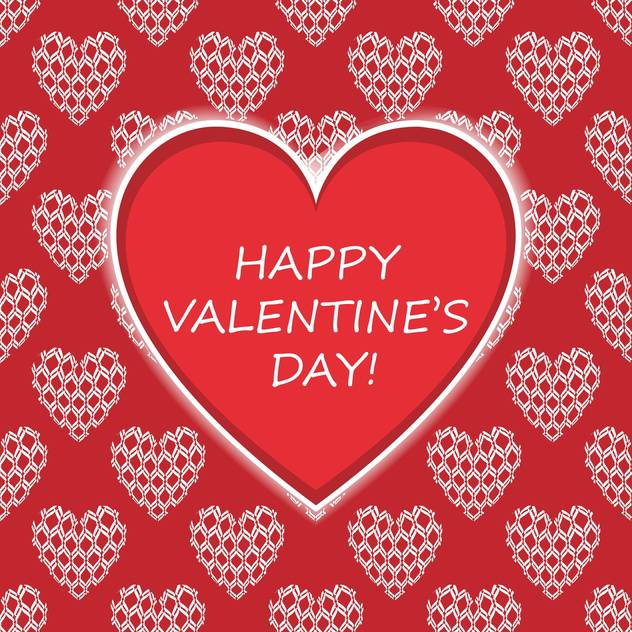 Vector card with congratulations for Valentine's day - vector gratuit(e) #126838