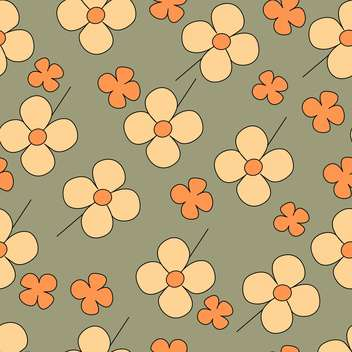 Vector floral grey background with cute flowers - Free vector #126868