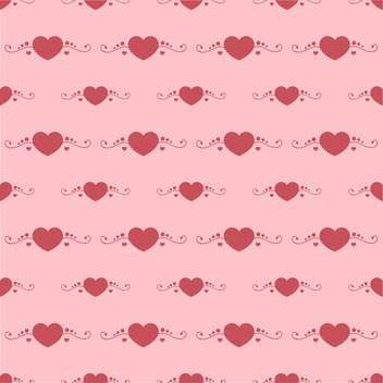 Vector background with red hearts on pink background - Free vector #127018