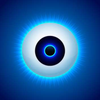 Vector color eye design on blue background - Free vector #127058
