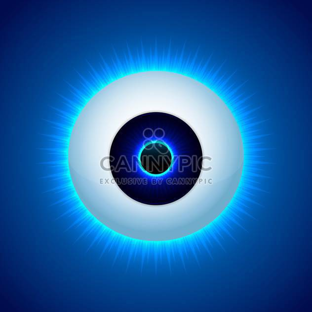 Vektor-Auge Farbgestaltung auf blauem Hintergrund - Free vector #127058