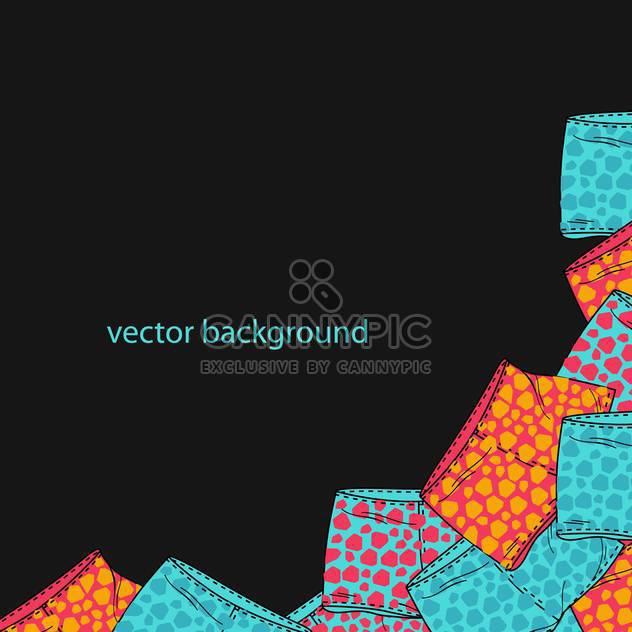 Vector black background with different fashion shorts - Free vector #127098