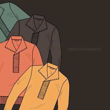 Vector background with male sweaters - vector gratuit #127178