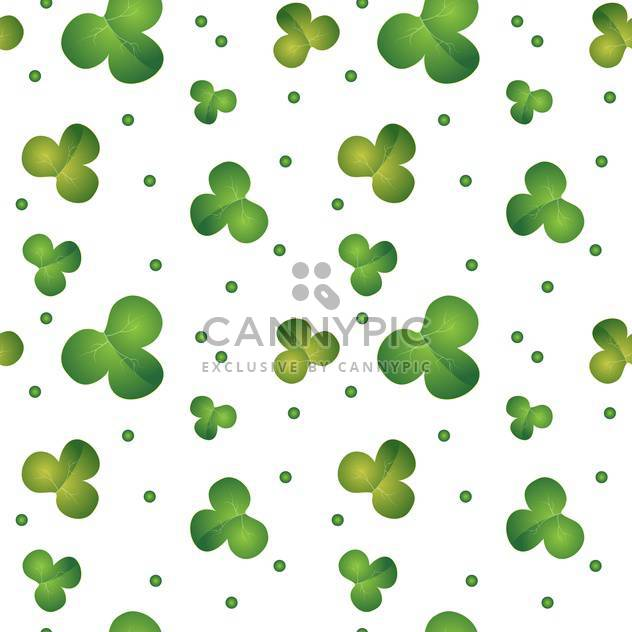 Green seamless clover pattern on vector background for St Patrick's Day - Free vector #127348
