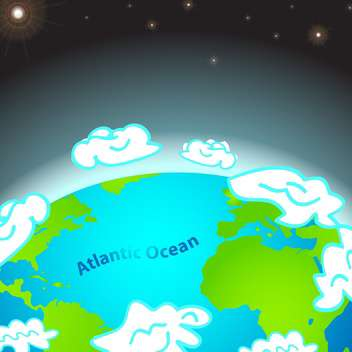 colorful illustration of atlantic ocean on Earth - Free vector #127368