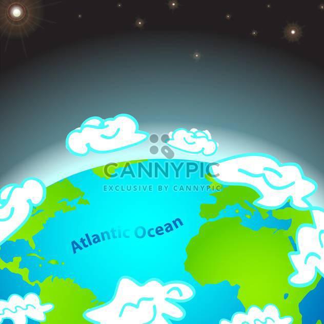 bunte Illustration des Atlantischen Ozeans auf der Erde - Kostenloses vector #127368
