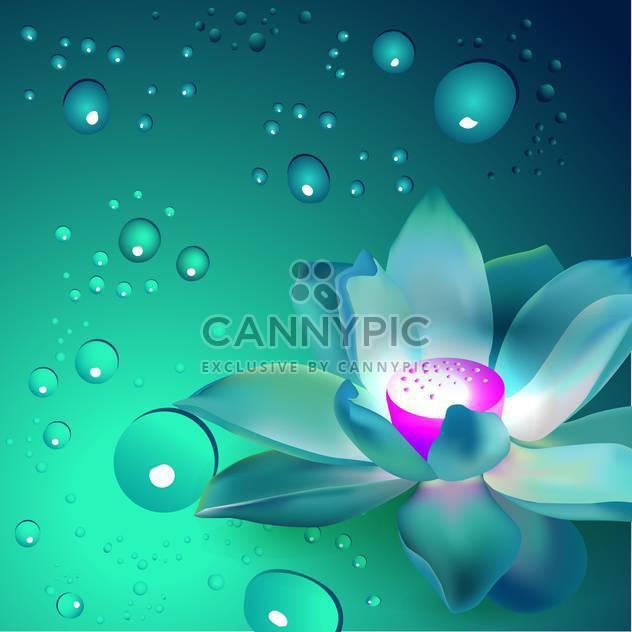 Vektor-Blumen mit Blasen auf blauem Hintergrund - Free vector #127418