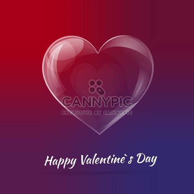Vektor-Hintergrund zum Valentinstag mit Glas Herz - Kostenloses vector #127548