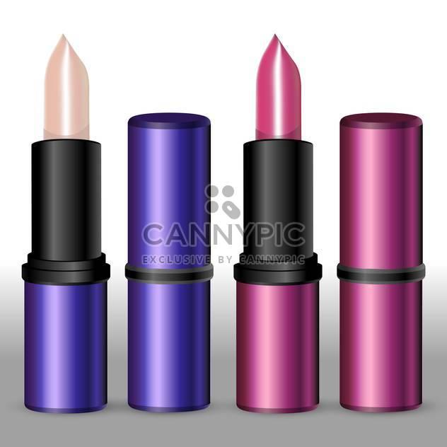 Vektor-Illustration von weiblichen Lippenstiften auf weißem Hintergrund - Free vector #127588