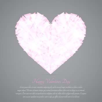 Glass broken heart on grey background for valentine card - vector gratuit(e) #127608