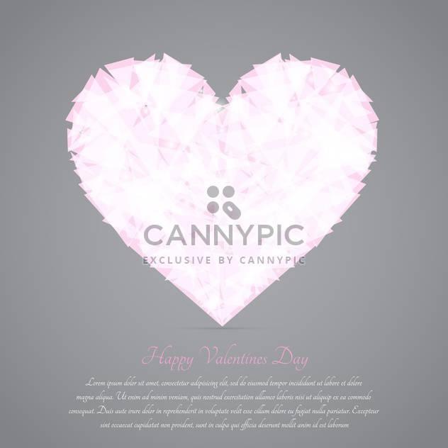 Glas gebrochenes Herz auf grauen Hintergrund für Valentinskarte - Kostenloses vector #127608